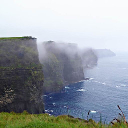 cliffsofmoher ireland travel fog foggyday