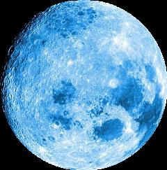 moon fullmoon blue fteblue freetoedit