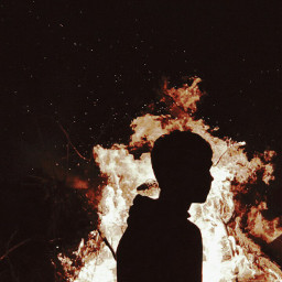 freetoedit fire night silhouette sparks