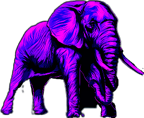 elephant purple freetoedit