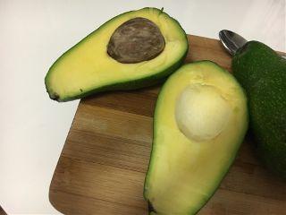 avocado green fruit spoon white