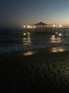 holidays antalya sea beach night freetoedit