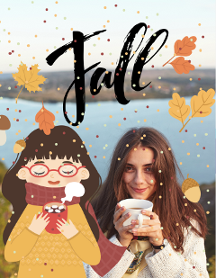 fall autumn leaves girls cold