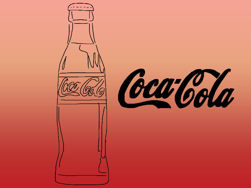 The vibe is alive! #freetoedit #coke #sketched