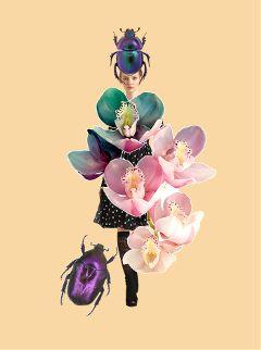 fashion girl flowers fun pastel