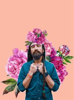 fashion man flowers fun pastel