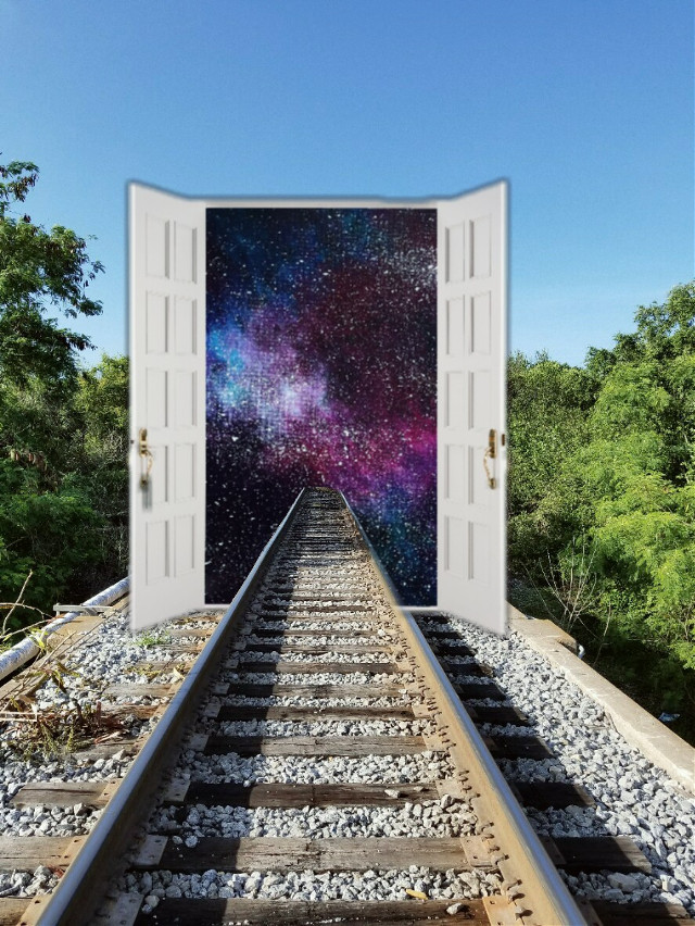 #space #galaxy #door #traintrack #traintraks