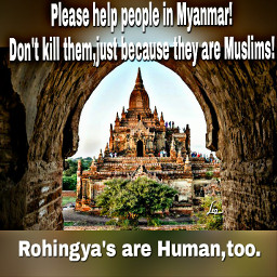 help myanmar!don't kill muslims! rohingya's