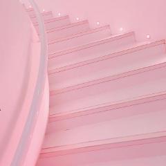 pink pastel stairs background freetoedit