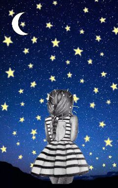 freetoedit night sky interesting sad