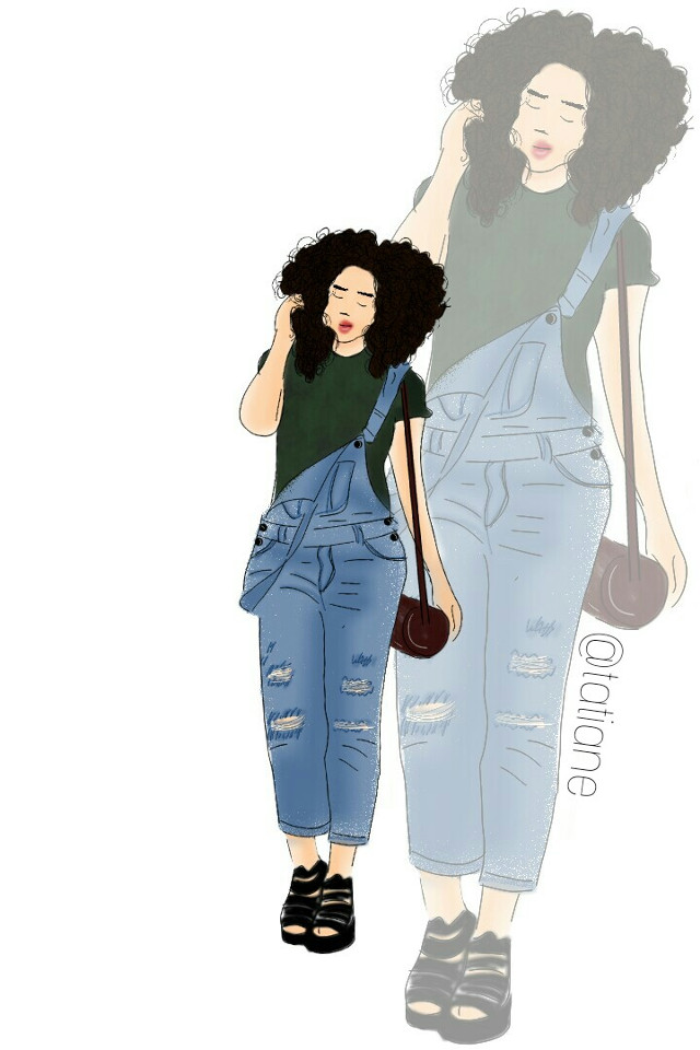 #mydraw#myworld#curlyhair#beautiful#jeans#remixit