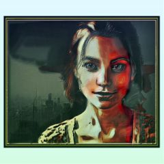 freetoedit portrait woman city oileffect