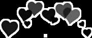 hearts corazones black negro freetoedit