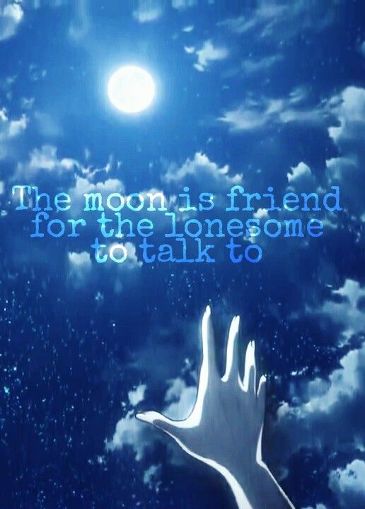 Quotes Sayings Quotes Lonely Moon Blue Night