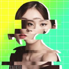 glitch green yellow vivid girl