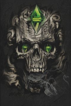 freetoedit skull simsstickerremix myartwork