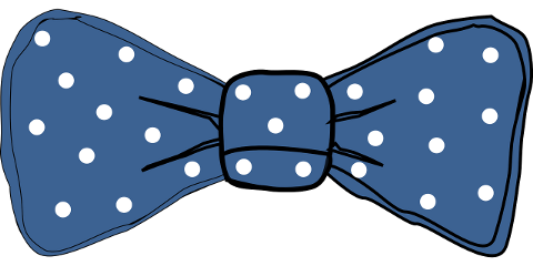 ftestickers bow blue dots freetoedit