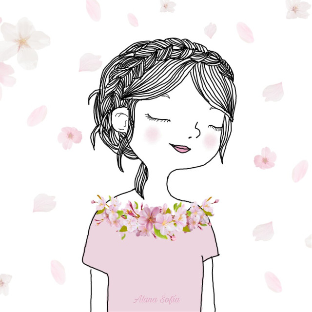 #mydrawing #cherryblossoms (stickers) #freetoedit  Web ref used