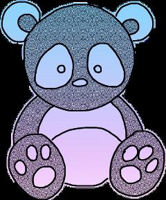 panda doodle sketched pastel freetoedit