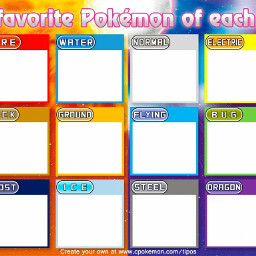 pokemon art types anime pocketmonster freetoedit