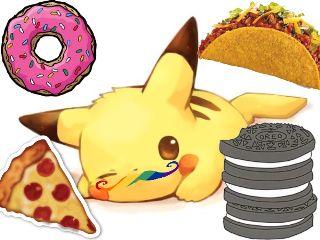 mercurystickerremix freetoedit foodie cuteness pikachuforever