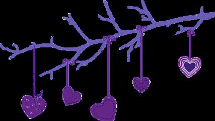 ftestickers heartstickers heart purple tree