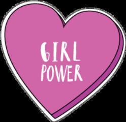 girlpower heart pink tumblr rosa