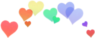 heart rainbow colorful aesthetic head
