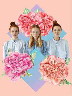 fashion flowers design girls