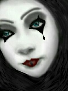 wdpeye emotions clown woman eyes