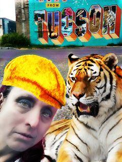 selfiewithtiger tiger freetoedit