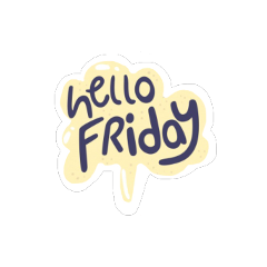 ftestickers text friday freetoedit