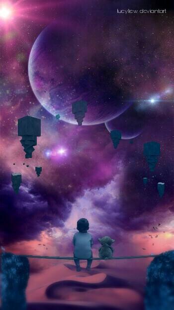 Just You and Me #remixgalleries #editedwithpicsart #madewithpicsart #dream #fantasy #surreal #cosmic