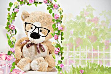 freetoedit teddy_bear sweet flowers