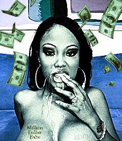 money million dollar babe blue freetoedit