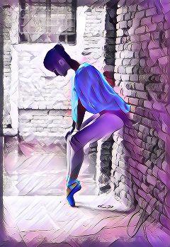 freetoedit ballerina nightcore picsart