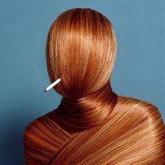 freetoedit strange hair cigarette noface