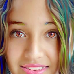 freetoedit girl colorfulhair pinklips
