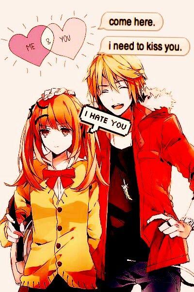 Anime Justforfun Fanart Tsundere Couple Love