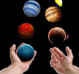 ftestickers planetstickers planet hands juggling
