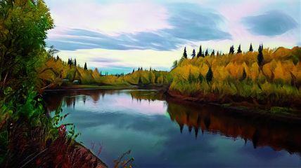 freetoedit creek river magic edit