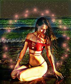 beach bikini magiceffect twinklelights freetoedit