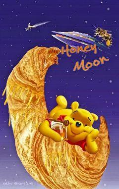 pooh honey bee freetoedit