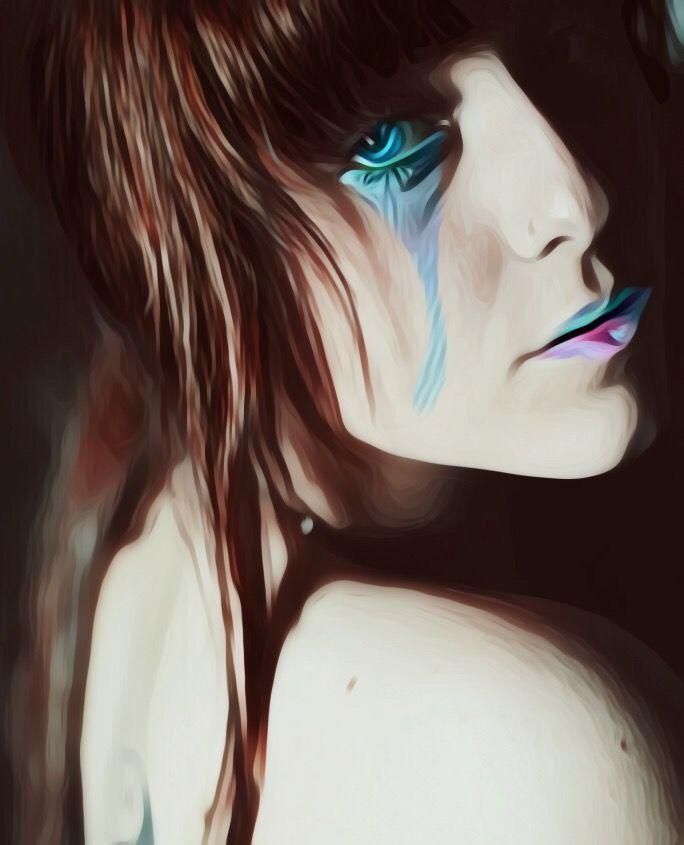 #freetoedit #blueeyes #cry #redhead