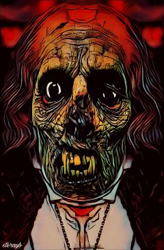 zombie dark popart portrait colorful