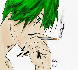 sogghynjodonati demon greenhair drawing paint