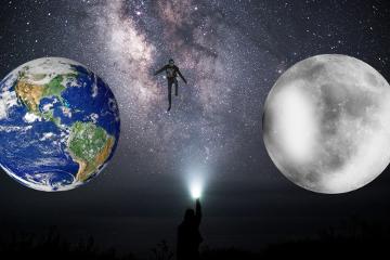 freetoedit universe earth moon skater