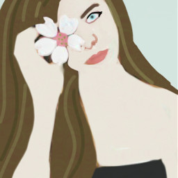 drawing mydraw flower girl colorpaint