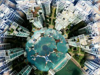 freetoedit picsart madewithpicsart freefalling bigbluehole
