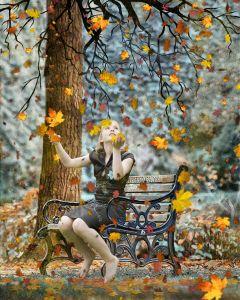 freetoedit remixit woman sitting tree ftestickers